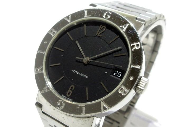 e8261ed812f5 ブルガリ BVLGARI 腕時計 ブルガリブルガリ BB33SS AUTO メンズ 黒【中古 ...