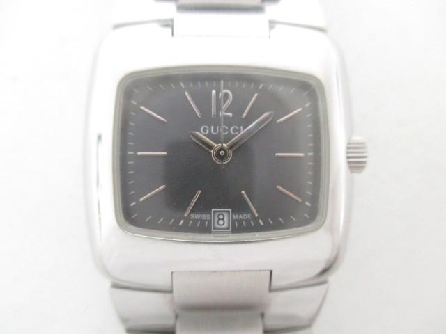 fc195b4489a0 グッチ GUCCI 腕時計 8500L レディース 黒【中古】の通販はWowma ...
