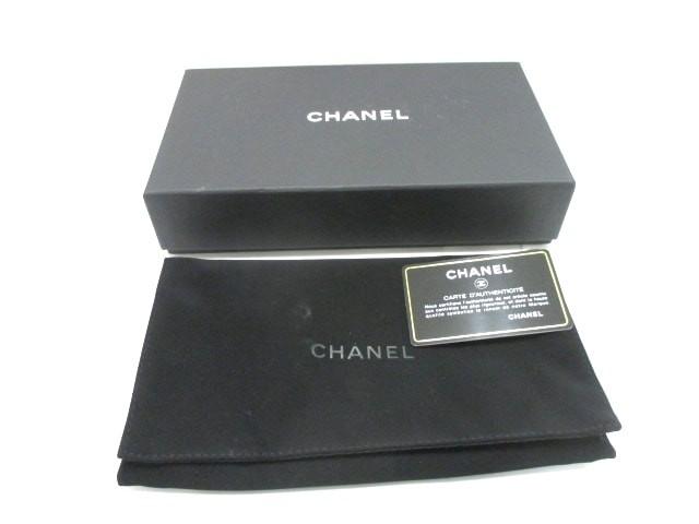 47f4f3432e76 シャネル CHANEL 長財布 レディース 美品 - シルバー×黒 ラウンドファスナー/ココマーク