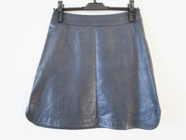b888f4a6685e トゥモローランド TOMORROWLAND スカート サイズ36 S レディース ダークネイビー レザー【中古】