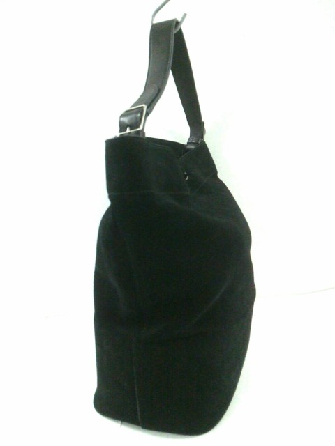7b1d08860b97 セリーヌ CELINE ショルダーバッグ レディース - 黒 巾着型 スエード×レザー【中古】