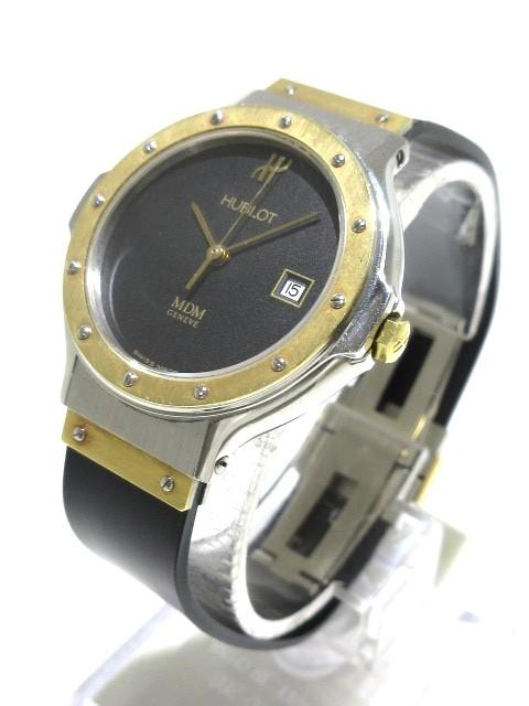 on sale 98d61 b8fbf ウブロ HUBLOT 腕時計 クラシック MDM S 139 10 2 レディース 黒【中古】