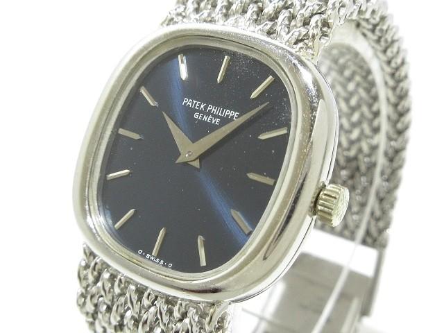 f678277909 パテックフィリップ PATEK PHILIPPE 腕時計 - レディース 金無垢/アンティーク/要OH ネイビー【