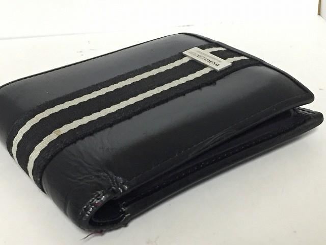 best website 0967b 2e35e バーバリーブラックレーベル Burberry Black Label 2つ折り財布 レディース 黒×アイボリー ...