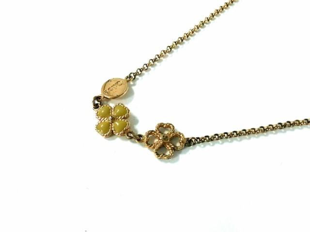 new product 3a645 c8dce クロエ Chloe ネックレス レディース 金属素材 ゴールド×ライトグリーン【中古】