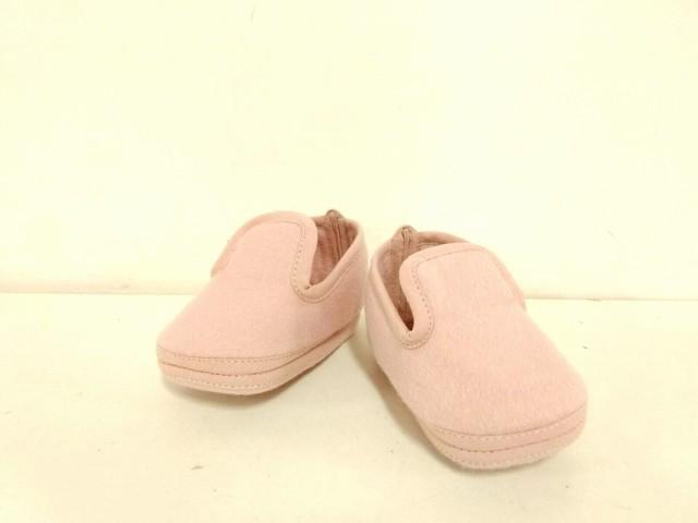 エルメス HERMES 靴 18 ユニセックス 美品 ピンク ベビーシューズ ウール×アンゴラ【】20190710
