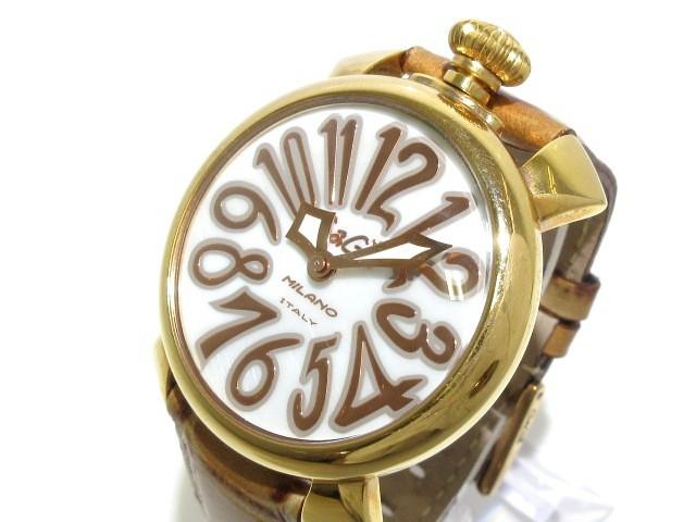 【2019 新作】 ガガミラノ GAGA MILANO 腕時計 マヌアーレ40 J27548 ユニセックス 革ベルト 白【】20190704, 大輝厨房機器用品 abcee6f2