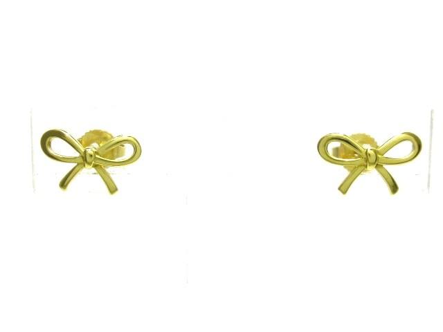 日本初の ティファニー TIFFANY&Co. ティファニー リボン ピアス レディース 美品 リボン ピアス K18YG【】20190803, イースクエア:478f562b --- pfoten-und-hufe.de