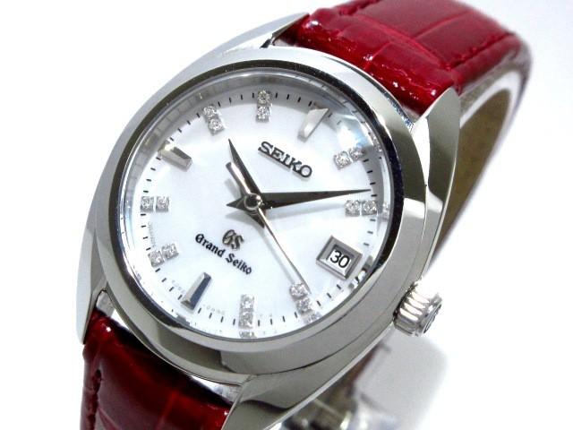 グランドセイコー GrandSeiko 腕時計 美品 4J52 0AC0 レディース 16Pダイヤ/シェル文字盤 ホワイトシェル【中古】20190904
