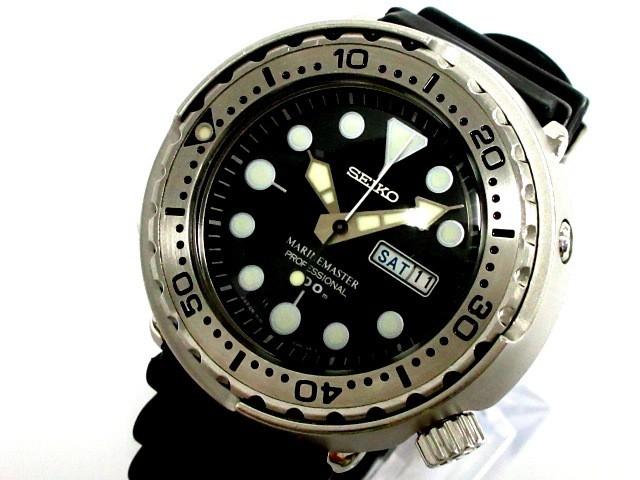 最低価格の セイコー SEIKO SEIKO 腕時計 マリンマスター 7C46-0AC0 メンズ 腕時計 黒【 メンズ】20190927, クッション生活 made in OSAKA:bfbb09e1 --- kzdic.de