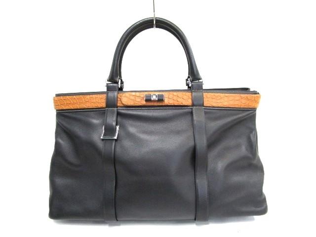 100%本物 - ロエベ 黒×ブラウン ハンドバッグ レザー【】20191121 LOEWE レディース-バッグ