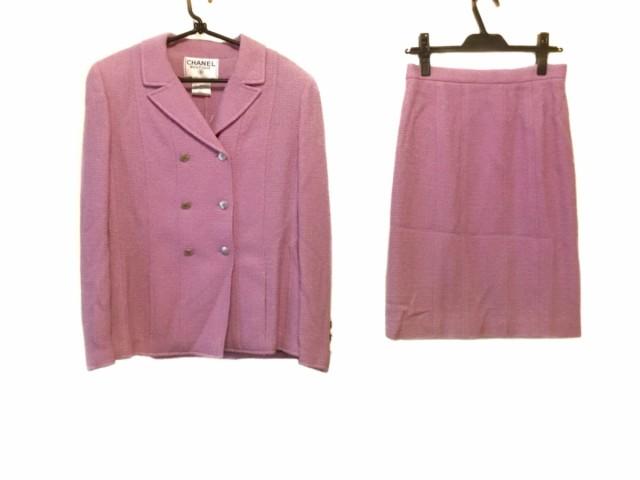 【半額】 レディース L CHANEL スカートスーツ ピンク【】20200225 シャネル サイズ42-スーツ