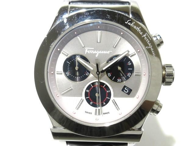 定番  フェラガモ SalvatoreFerragamo 腕時計 美品 FFM090016 メンズ シルバー×黒【】20191204, ヌマクマチョウ b06182cc