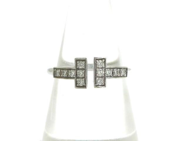 当店在庫してます! ティファニー レディース TIFFANY&Co. リング レディース Tワイヤーリング TIFFANY&Co. K18WG×ダイヤモンド 総重量2.6g リング/12Pダイヤ【】20191122, どんどん:2ad19b41 --- chevron9.de