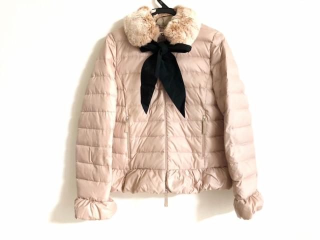 トゥービーシック TO BE CHIC ダウンジャケット サイズ40 M レディース ベージュ 冬物/ファー【】20200303