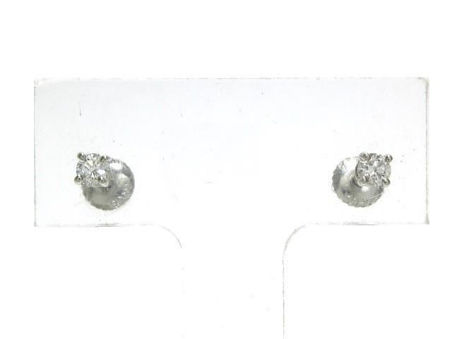 【使い勝手の良い】 ティファニー TIFFANY&Co. ピアス レディース 美品 ソリティア Pt950×ダイヤモンド 1Pダイヤ/片側約0.12カラット【】20191213, YASORA e45f39b5
