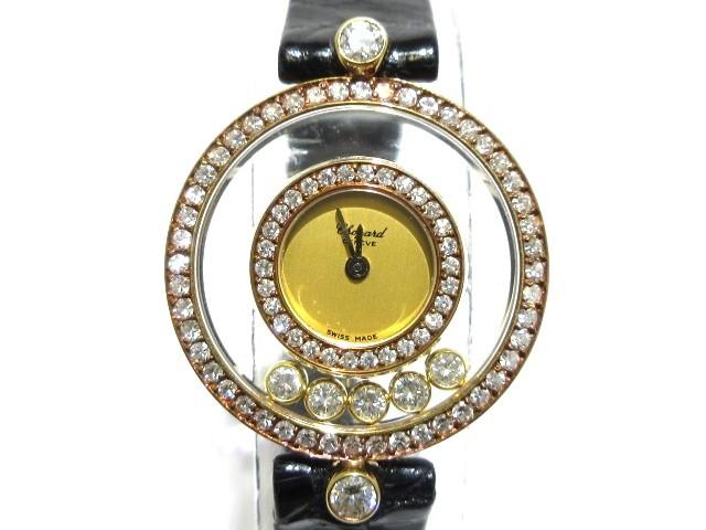 【タイムセール!】 ショパール Chopard 腕時計 ハッピーダイヤモンド 20/3957 レディース ゴールド【】20200109, ヒラタムラ de0f9f5a