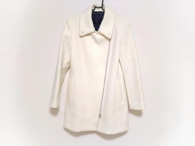 ダーマコレクション DAMAcollection コート サイズ9AR S レディース 美品 白 ライダースコート【】20200121