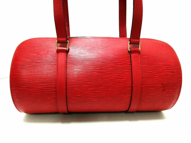 高速配送 カスティリアンレッド M52227 美品 スフロ ルイヴィトン レディース エピ レザー(LVロゴの刻印入り)【】20200203 ハンドバッグ-バッグ