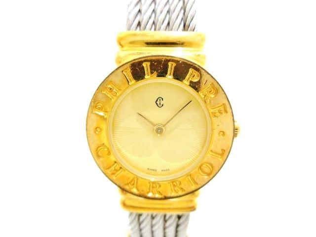 上品なスタイル フィリップシャリオール PHILIPPE CHARRIOL 腕時計 サントロペ 28.9.6858 レディース バングルウォッチ ゴールド【】20200302, ナカクビキグン 538f0998
