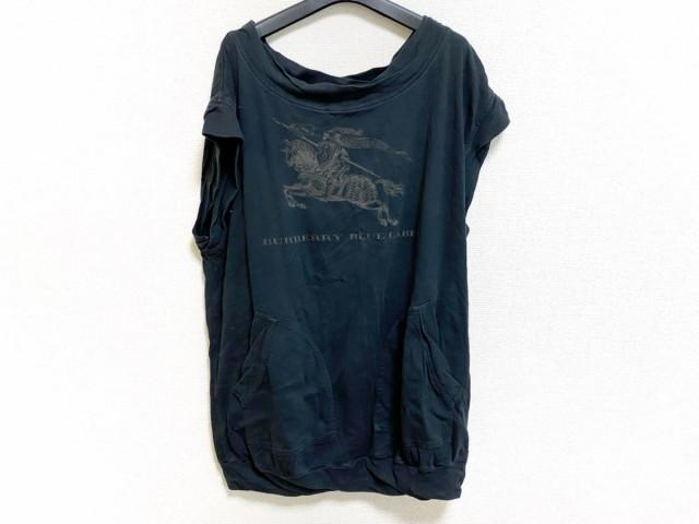バーバリーブルーレーベル Burberry Blue Label ワンピース サイズ38 M レディース 美品 黒×ダークブラウン【】20200312