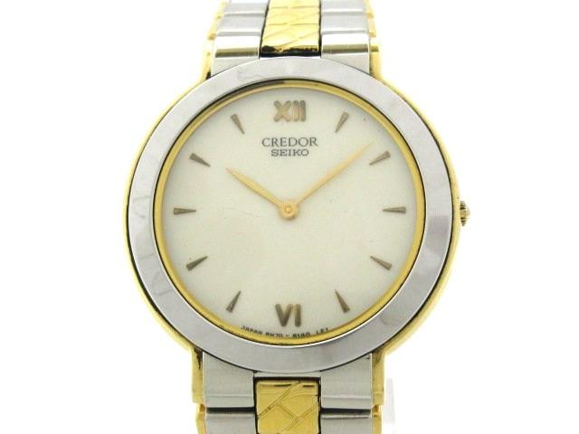 史上最も激安 8N70-6160 白【】20200207 メンズ SEIKO CREDOR セイコークレドール 腕時計-腕時計メンズ