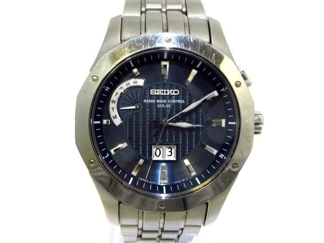 経典 セイコー SEIKO 腕時計 8B43-0AA0 ブライツ 腕時計 8B43-0AA0 メンズ ダークネイビー ブライツ【】20200304, 利府町:43032f35 --- 1gc.de