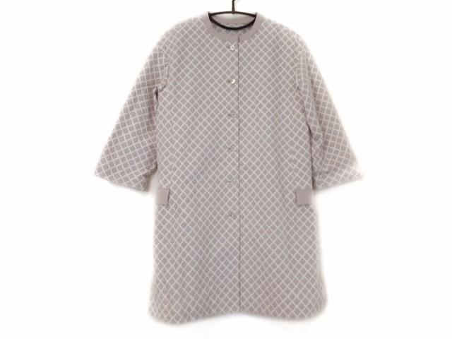 サリースコット Sally Scott コート サイズ9 M レディース ベージュ×白 春・秋物/刺繍【】20200303
