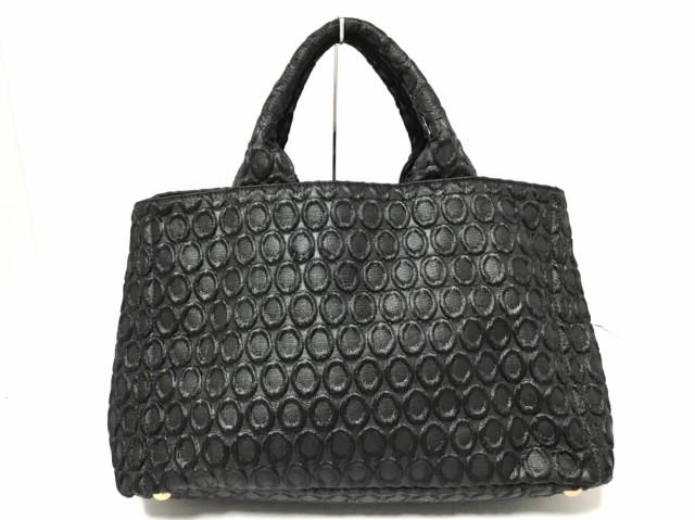 【再入荷!】 プラダ 美品 化学繊維【】20200229 トートバッグ 黒 レディース CANAPA PRADA-バッグ