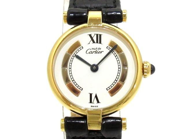 【まとめ買い】 カルティエ 925/革ベルト Cartier 腕時計 マストヴァンドームヴェルメイユ レディース 腕時計 925/革ベルト レディース 白×スリーカラーゴールド【】20200224, Lunatic Nights:7e71e062 --- schongauer-volksfest.de