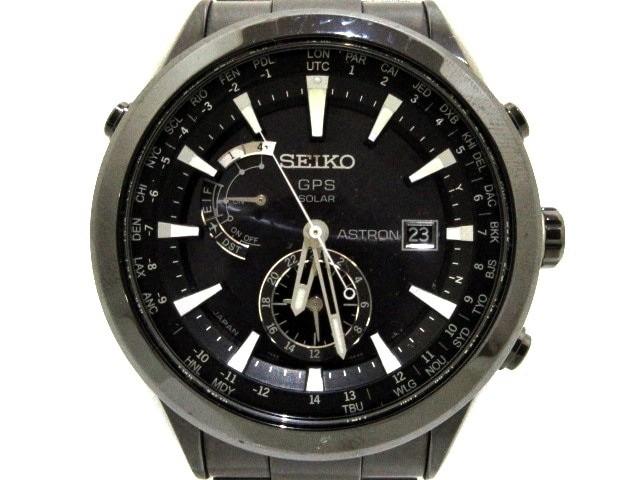 超熱 セイコー SEIKO 腕時計 アストロン 7X52-0AA0 メンズ GPS衛星電波/ブライトチタンケース/ラミックベゼル 黒【】20200224, 彩プラス 1442ad32