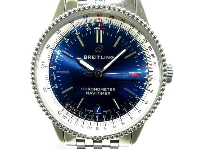 魅力的な ブライトリング BREITLING 腕時計 ナビタイマー 01 SS A17325 メンズ 腕時計 メンズ SS ネイビー【】20200311, 東灘区:c8a50383 --- 1gc.de