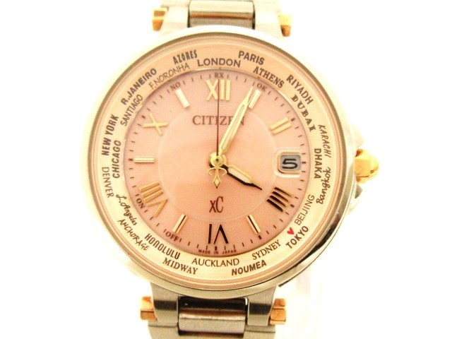 人気の シチズン CITIZEN 腕時計 美品 XC(クロスシー) H246-T018238 レディース 電波 ピンク【】20201209, ワイズオフィス 30ff3019