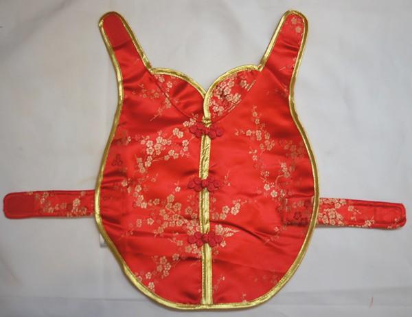 ペット用チャイナドレス 25cmサイズ(ペット中型犬用) 赤色