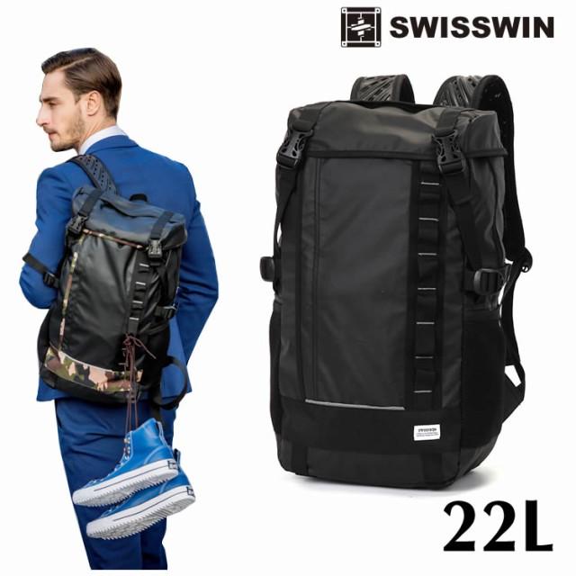 bf01cf0dc452 SWISSWIN SW222681 リュック メンズ スクエアリュック リュックサック バックパック ビジネスリュック バッグ デイパック リュック サック