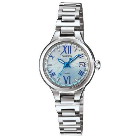 お手頃価格 SHW-1700D-2AJF[SHW1700D2AJF]【返品種別A】 カシオ 【国内正規品】SHEEN Voyage Seriesソーラー電波時計 レディースタイプ-腕時計レディース