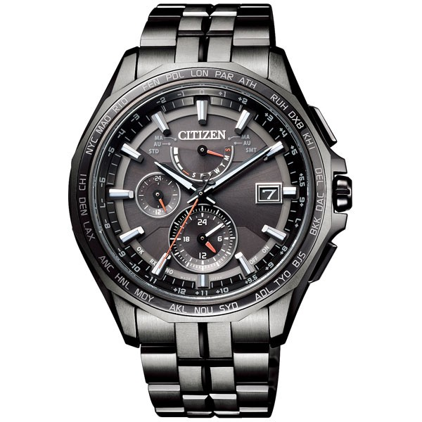 新作 Titanium アテッサ ダブルダイレクトフライト AT9097-54E【返品種別A】 Black シチズン Series ソーラー電波時計 メンズタイプ-腕時計メンズ