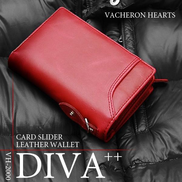財布 メンズ 二つ折財布 牛革 ヴァセロンハーツ ウォッシュレザー VH-2000 5カラー カードスライドポケット付き 送料無料※沖縄以外