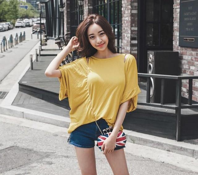 背中魅せデザイン ゆったりシルエット カットソー トップス Tシャツ 大きいサイズ レディース【予約】vbh-20066