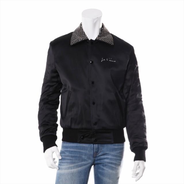 有名なブランド サテン サンローランパリ ジャケット ブラック テディジャケット 17-18AW メンズ 44-ジャケット・アウター
