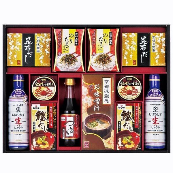 調味料詰合せ味膳の舞  生しょうゆ カニ缶 だし 味噌汁 /LOI-50