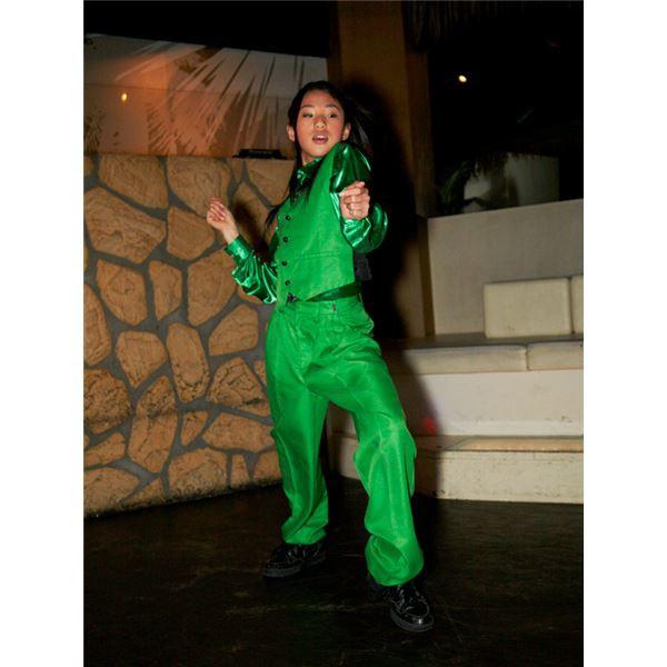 13cdfb1930bb7 キッズダンス衣装  ベスト グリーン 140サイズ  ドライクリーニング可 ポリエステル 『Step by