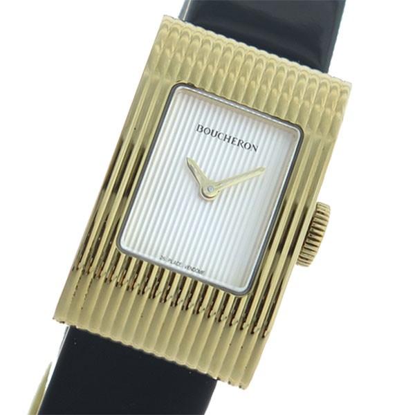 激安通販新作 ブシュロン BOUCHERON リフレ クオーツ レディース 腕時計 WA009523 シルバー/ブラック シルバー(バンド調整器付), 愛-ギフト 10a2f6ff