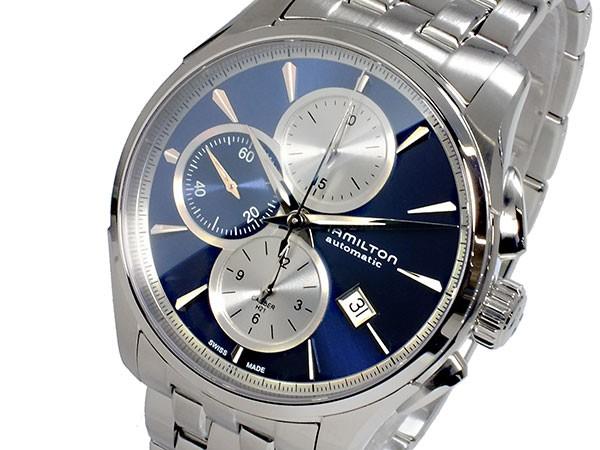 最も信頼できる ハミルトン HAMILTON ジャズマスター JAZZMASTER 自動巻き クロノグラフ メンズ 腕時計 H32596141 ブルー(バンド調整器付), 7インテリア 9090035d