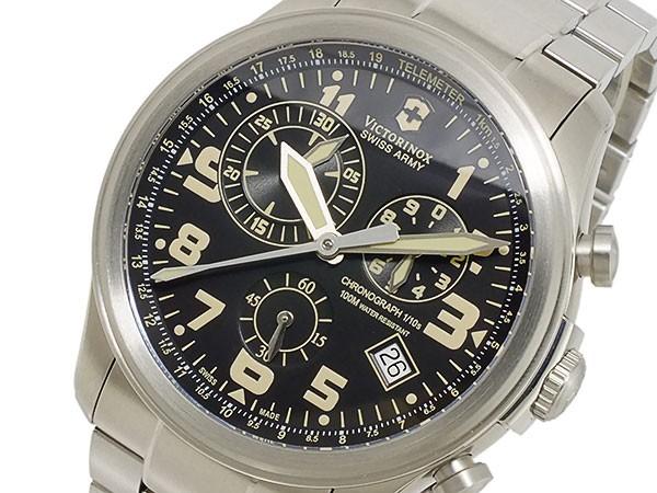 公式の店舗 クオーツ メンズ ブラック(バンド調整器付) VICTORINOX ビクトリノックス 241313 クロノ-腕時計メンズ