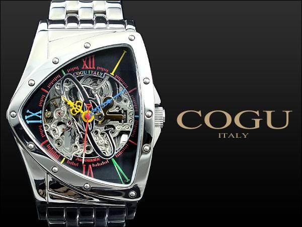超美品の コグ COGU 流通限定モデル フルスケルトン 自動巻き 腕時計 BNT-BKC ブラック, しあわせワイン倶楽部 c85324cc