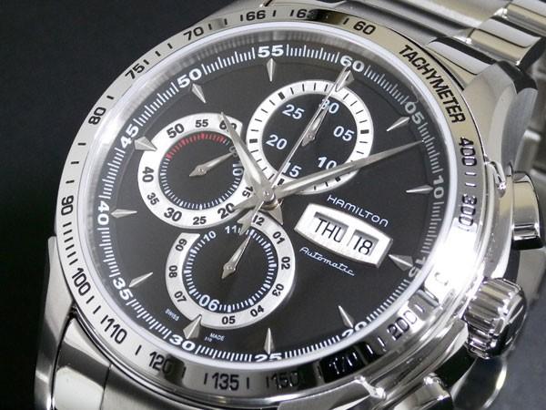 愛用  ハミルトン HAMILTON ロード 腕時計 クロノグラフ 自動巻き H32816131 ブラック(バンド調整器付), タイヤスタイル 82684252