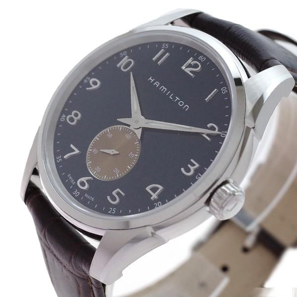 世界の クォーツ ネイビー ハミルトン シンライン ジャズマスター ブラウン(バンド調整器付) 腕時計 HAMILTON H38411540 メンズ-腕時計メンズ