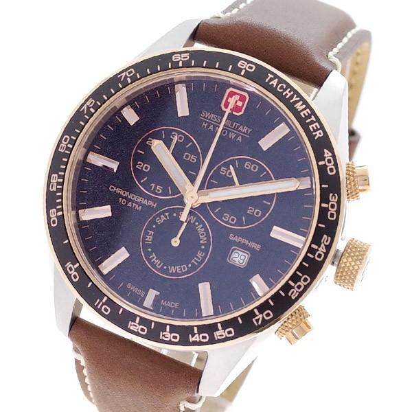 100 %品質保証 国内正規(バンド調整器付) ML-447 MILITARY メンズ ブラック クォーツ ダークブラウン スイスミリタリー SWISS 腕時計-腕時計メンズ