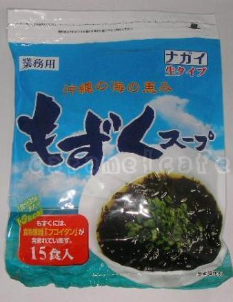 沖縄産もずくスープ生タイプ15食食物繊維フコイ...